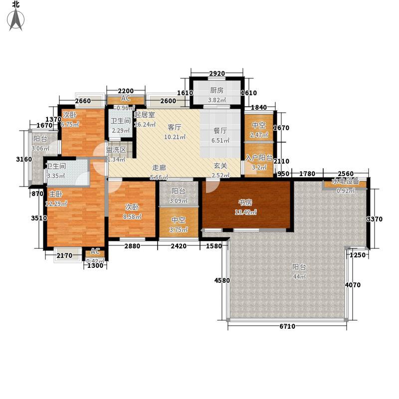 金龙百灵景都155.89㎡246#楼5-3户面积15589m户型
