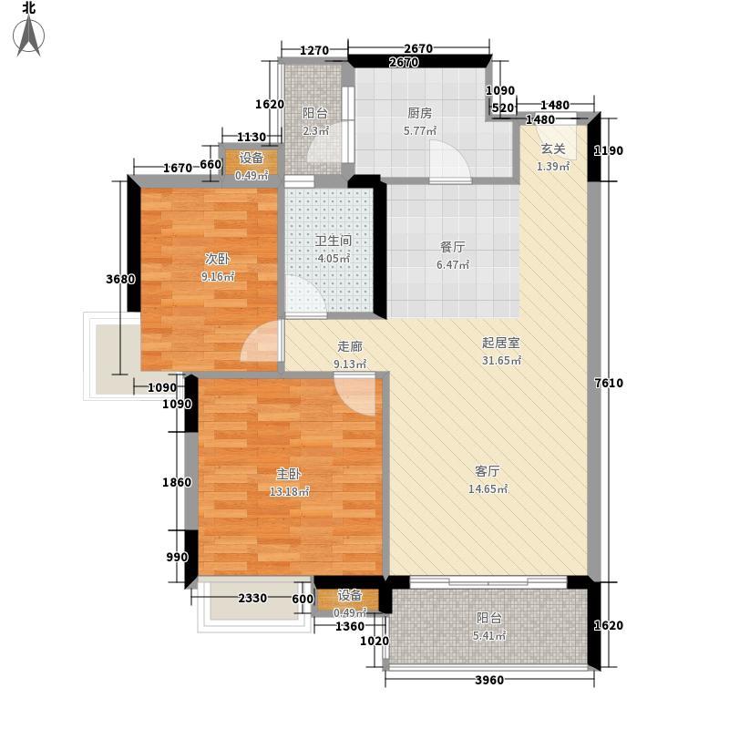 中海康城80.23㎡紫罗兰街6号03面积8023m户型