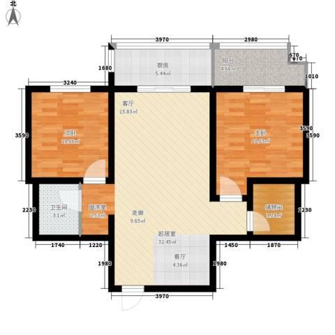 金桥太阳岛2室0厅1卫1厨82.00㎡户型图