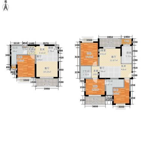 御景龙庭4室0厅3卫1厨128.81㎡户型图