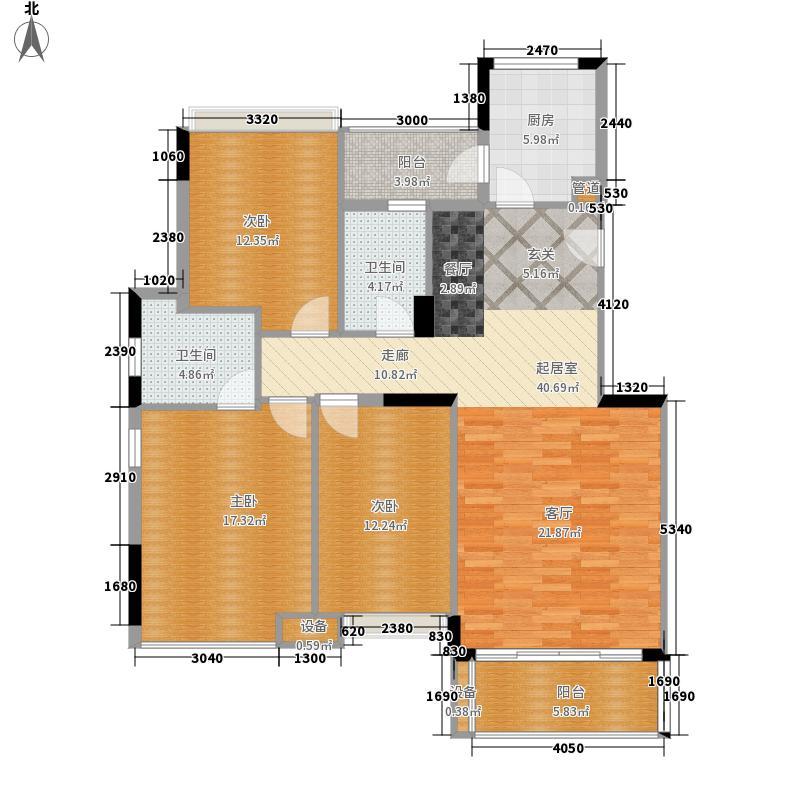 中海康城121.45㎡蔷薇街1号01面积12145m户型