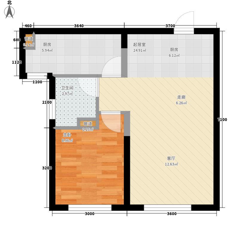纳帕英郡9#楼J2户型1室1厅
