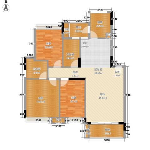 中海康城3室0厅2卫1厨111.00㎡户型图