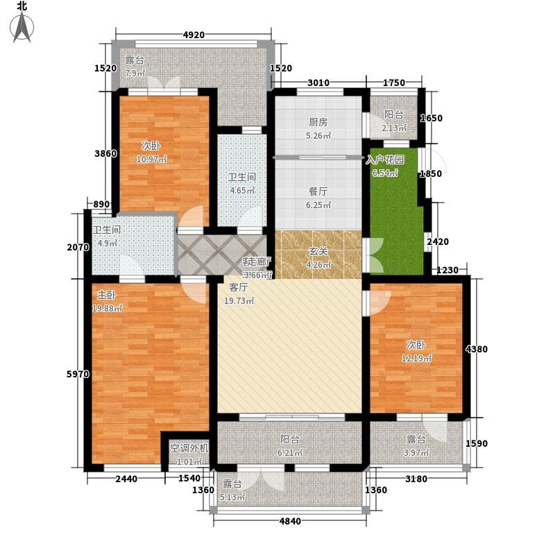 哈尔滨万达城151.00㎡万达城洋房D户型3室2厅