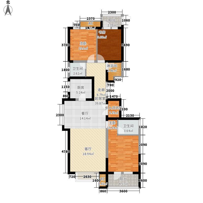 荣盛阿尔卡迪亚131.00㎡19号楼-1面积13100m户型