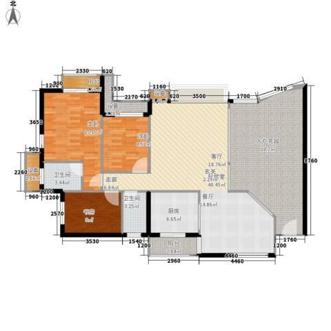 名湖花园3室0厅2卫1厨137.00㎡户型图