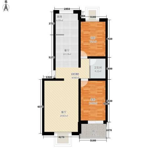 恒顺花园2室0厅1卫0厨95.00㎡户型图