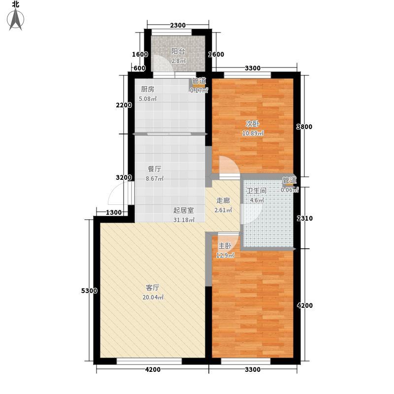 纳帕英郡9#楼J3户型2室2厅