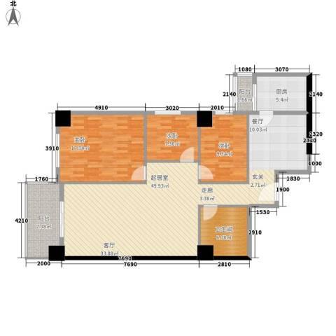 南方星座3室0厅1卫1厨140.00㎡户型图