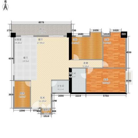 南方星座3室0厅2卫1厨190.00㎡户型图