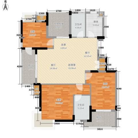 君融天湖3室0厅2卫1厨129.00㎡户型图