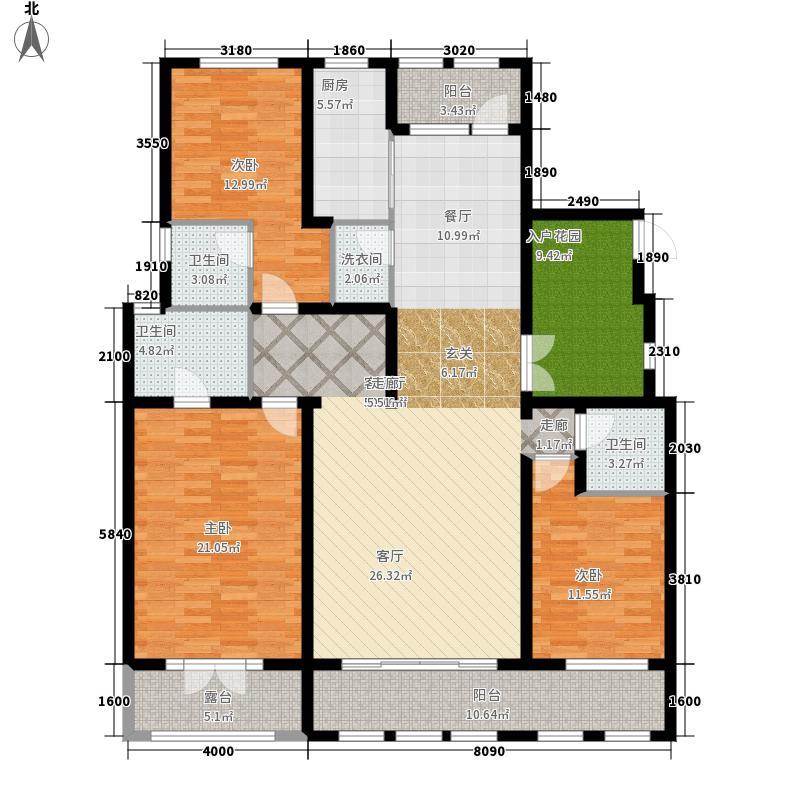 哈尔滨万达城188.00㎡万达城洋房B户型3室2厅