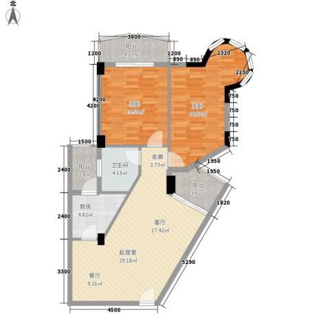 海滨城二期丽港新都2室0厅1卫1厨103.00㎡户型图