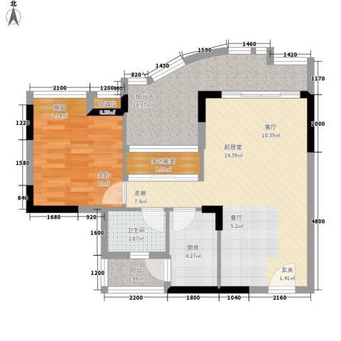 沙田东港城上郡1室0厅1卫1厨69.00㎡户型图