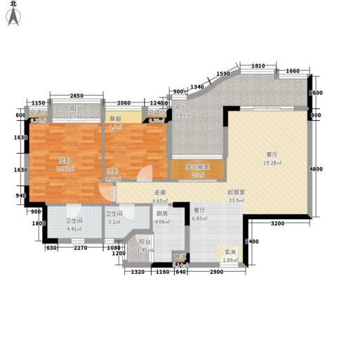 沙田东港城上郡2室0厅2卫1厨110.00㎡户型图