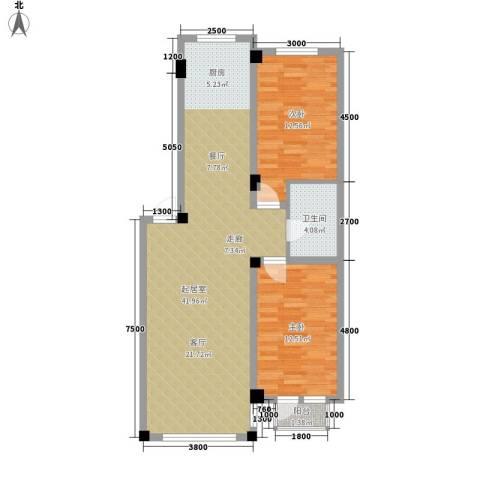 亿洲百旺郦城2室0厅1卫0厨102.00㎡户型图