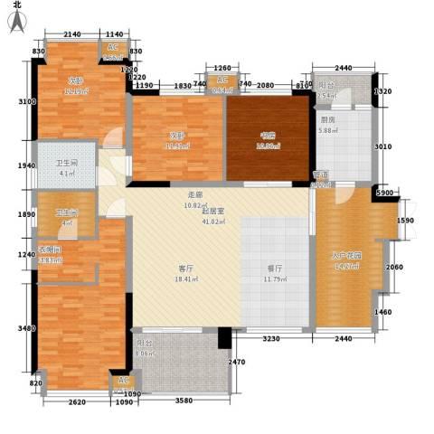 美年广场美岸4室0厅2卫1厨136.89㎡户型图