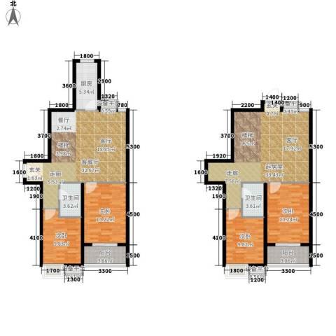 江林新城4室1厅2卫1厨192.00㎡户型图