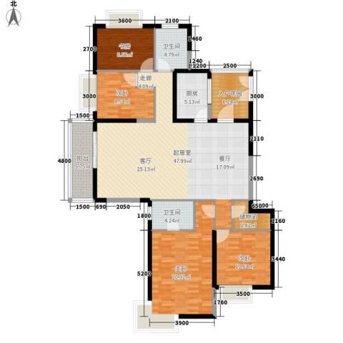 丰景佳园4室0厅2卫1厨176.00㎡户型图