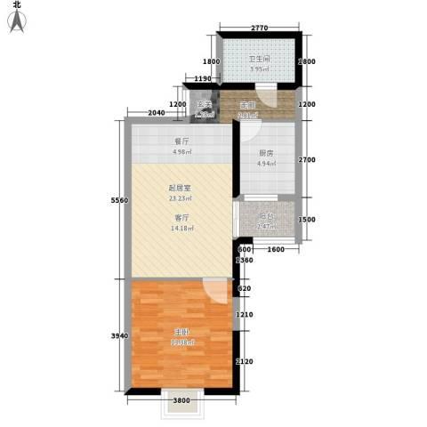 恒佳首座1室0厅1卫1厨110.00㎡户型图