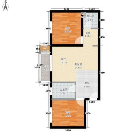 太乙嘉园2室0厅2卫0厨89.00㎡户型图