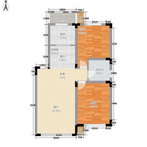 中海水岸馨都2室0厅1卫1厨96.00㎡户型图