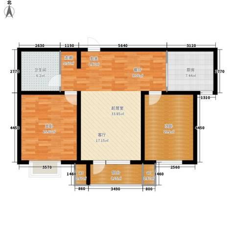 京港国际城2室0厅1卫1厨92.00㎡户型图