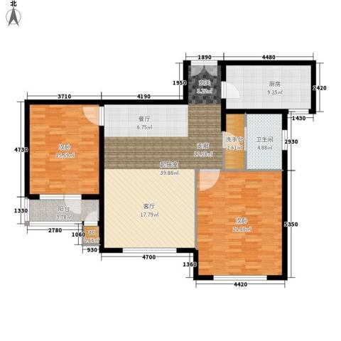 恒佳首座2室0厅1卫1厨110.00㎡户型图