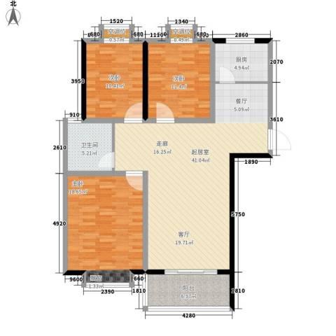 京海铭筑3室0厅1卫1厨141.00㎡户型图