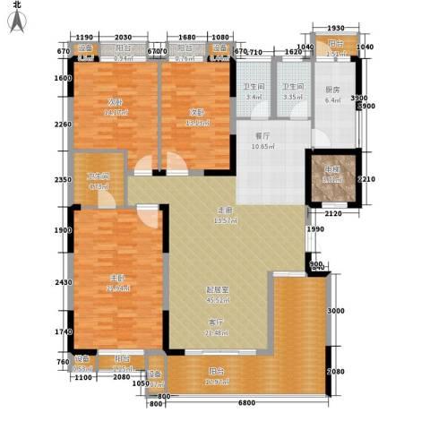 建鸿达华都3室0厅3卫1厨160.00㎡户型图