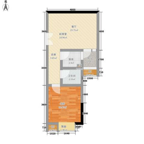 鑫远A派1室0厅1卫1厨53.00㎡户型图