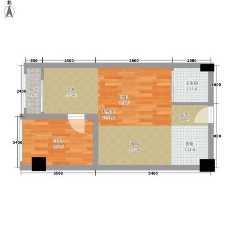 雍晟时代公馆1室0厅1卫0厨47.00㎡户型图