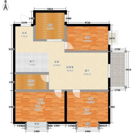 凤锦苑3室0厅1卫1厨122.00㎡户型图