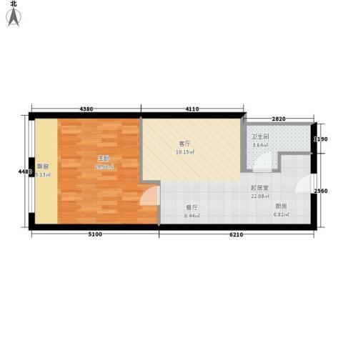 摩天一号1室0厅1卫0厨50.00㎡户型图