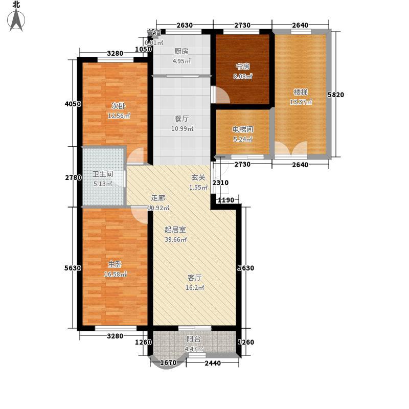 绝对城市124.86㎡绝对城市户型图三室两厅一卫(2/5张)户型3室2厅1卫