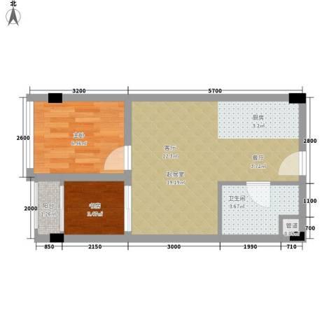 雍晟时代公馆2室0厅1卫0厨45.00㎡户型图