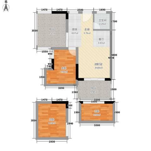 日月星城3室0厅1卫0厨84.00㎡户型图