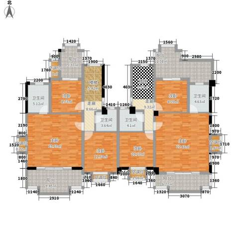 碧桂园椰城6室0厅4卫0厨191.89㎡户型图