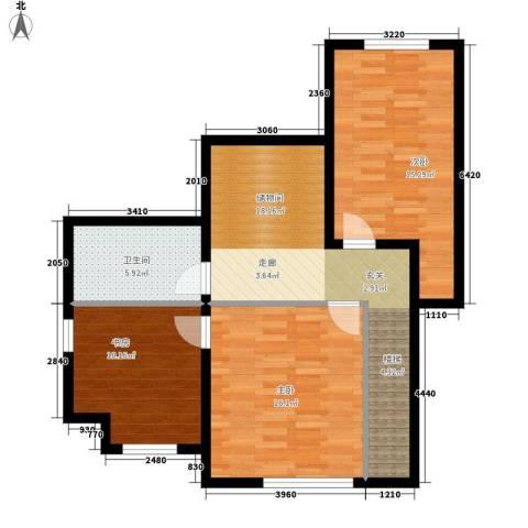 锦园别墅3室0厅1卫0厨93.00㎡户型图