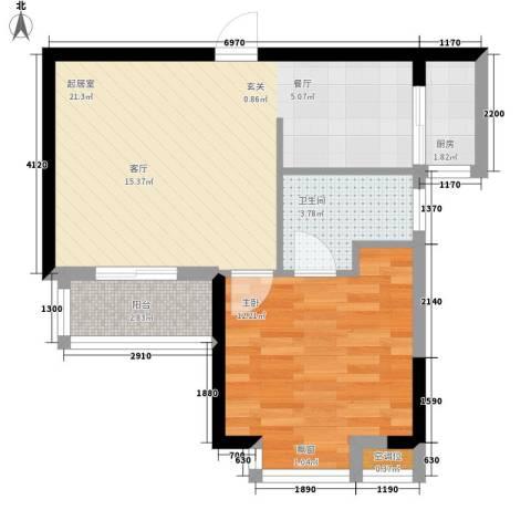 厚街虹桥住宅1室0厅1卫1厨61.00㎡户型图