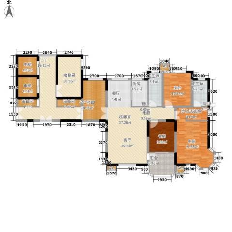 中海水岸馨都3室0厅2卫1厨221.00㎡户型图