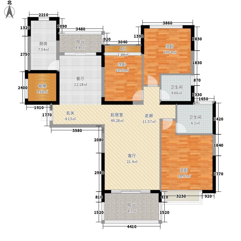 恒大雅苑145.82㎡7-9号楼2单元1户面积14582m户型