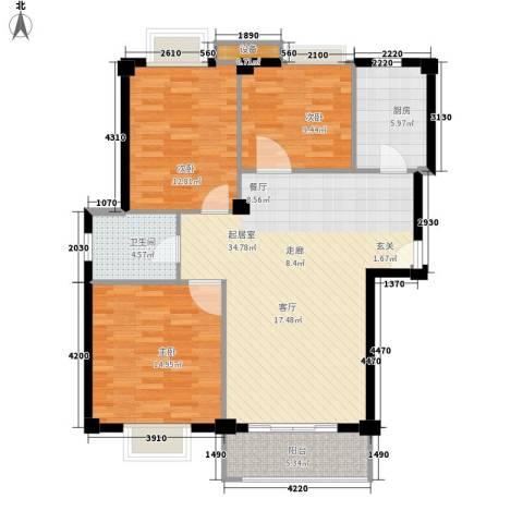 胥口新村3室0厅1卫1厨97.96㎡户型图