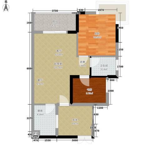 景江雅苑2室0厅1卫1厨90.00㎡户型图