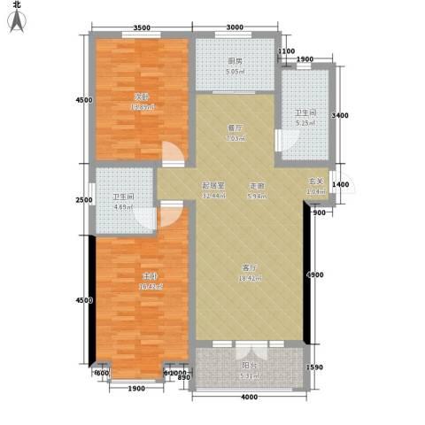 景江雅苑2室0厅2卫1厨90.00㎡户型图