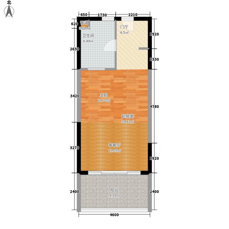 博鳌宝莲城57.79㎡玉海公寓户型