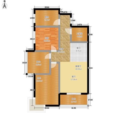 东郡名座2室1厅1卫1厨103.00㎡户型图