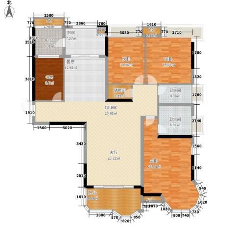 合生君景湾4室0厅2卫1厨178.00㎡户型图