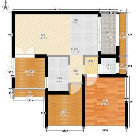 亚商国际2室0厅1卫0厨80.00㎡户型图