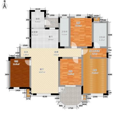 中海水岸馨都4室0厅2卫1厨180.00㎡户型图